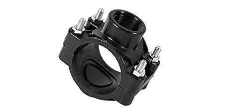 Anbohrschelle für Regner 25, 32, 40, 50, 63, 70 mm PE-Rohr Profil-Qualität Verbinder (25mmx1/2) m-n rainman