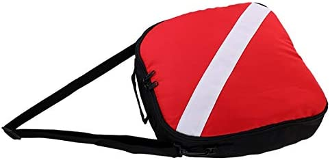 Gaetooely Portable Durable Nylon Dive Flag Scuba Diving Protective Regulator Bag with Zipper Carry Handle