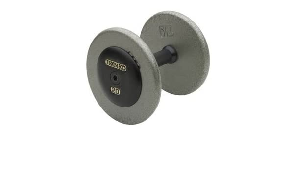 Amazon.com : Ivanko Pro-Style Dumbbells with Non-Machined Hammertone Grey Plates and Cast Iron Black End Caps - 5-50 lb. Set : Sports & Outdoors