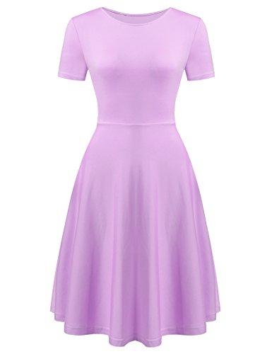Pink And Purple Striped Dress - 9
