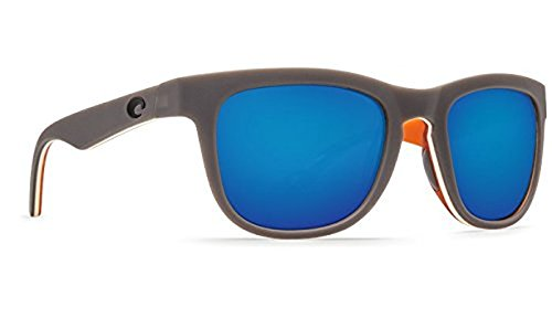 Costa Copra Sunglasses Matte Gray/Cream/Salmon Blue Mirror