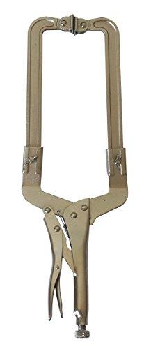 MacWork Adjustable Original Locking C Clamp 11-18in. Welding Pliers with Swivel Pads Steel Plier C Clamp Vice Welding Vise Tools (Adjustable C-clamp Locking)