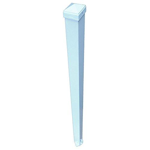 EZ Handrail 3 in. x 3 in. x 96 in. White Aluminum EZ Post (Aluminum Ez Handrail)