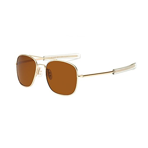 15fd8f9338e2 US Army Aviator Sunglasses Polarized Military Pilot Bayonet Temple Classic  Retro