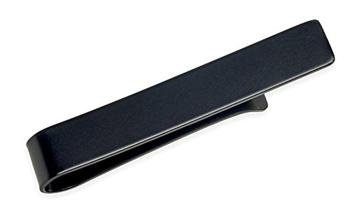 Tie Bar Clip, Skinny Narrow and Wide - Gift Boxed by Puentes Denver (1.9 Inch Matte Black) from Puentes Denver