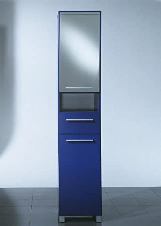 Tenzo Riva Spiegelschrank - Hochschrank in blau: Amazon.de: Küche ...