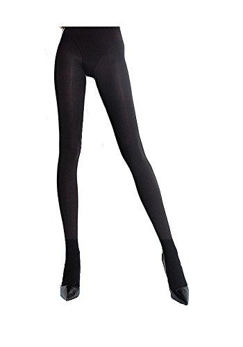 "Fiore Olga Women's 100 Denier Opaque Microfibre Pantyhose large (5'7""-5'10"" 170-178cm, hip 42-48"" 106-122cm) black"