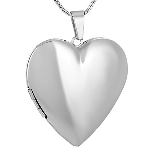 Engravable Locket - Engravable Blank Heart Photo Collection Locket Necklace Hypoallergenic Stainless Steel Openable Pendant for Friends Family