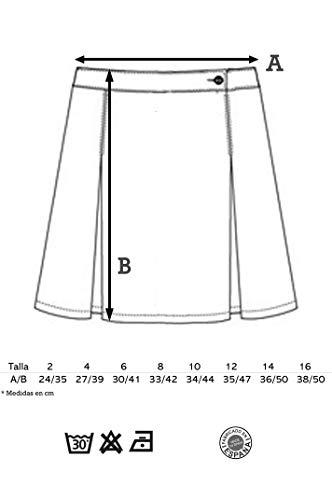 31fG6pVPN8L Tirantes hasta la talla 8 incluidos. Los tirantes se abrochan con dos botones en la parte trasera La falda incluye gomas laterales para un mejor ajuste 65% Poliéster, 35% Lana
