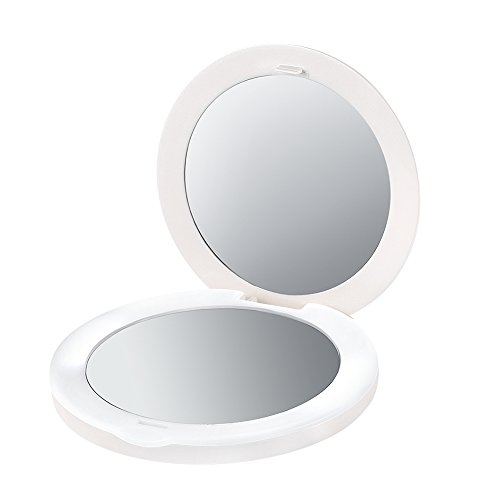 PLEMO LED Lighted Makeup Mirror 2-sided with 2X Magnifying Mirror and 1x Mirror Review