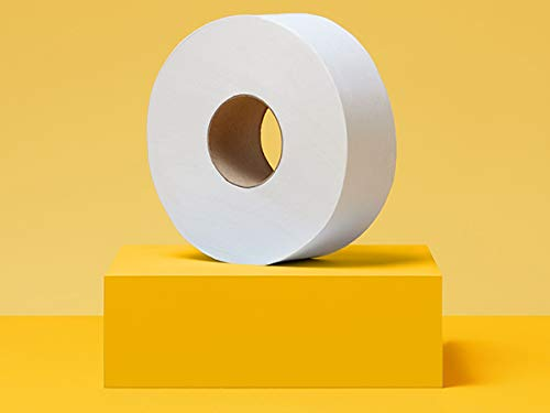 AmazonCommercial Jumbo Roll Toilet Paper, 1000 Feet per Roll, 12 Rolls (Large Roll Toilet Paper)