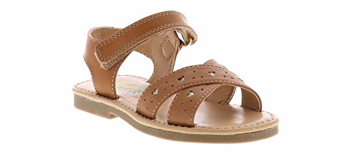 Allison Sandal (Rachel Shoes Girls' Allison Sandal, Tan Smooth, 10 M US Toddler)