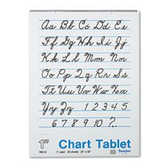 PAC74610 - Pacon Chart Tablets w/Cursive Cover ()