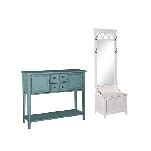 2 Piece Console - 2 Piece Entryway Set with Console Table and Hall Tree