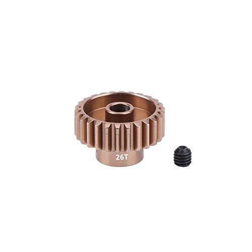 (Hisoul for Sakura D3 XI Zero S 1:10 RC Drift Car Motor Pinion Gears Accessories - 9mm Higth 19T/20T/21T/22T/23T/24T/25T/26T/27T/28T Aluminum Gears (♥ I))