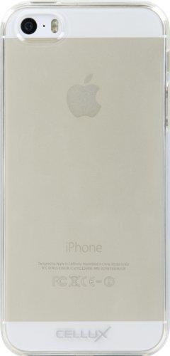 Cellux TPU Silikon Schutzhülle für Apple iPhone 5/5S gefrostet transparent fusselfrei
