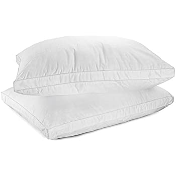 Amazon Com Down Alternative Pillows Cotton Cover Super