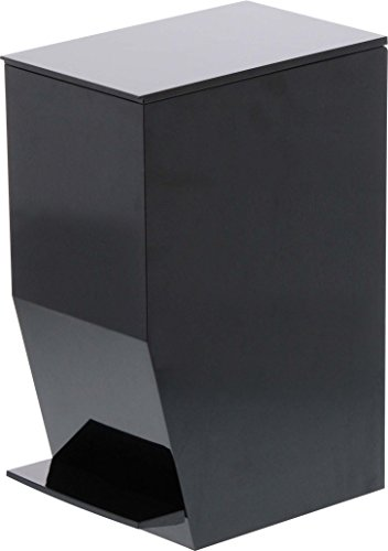 YAMAZAKI home 3386 Tower Sanitary Step Trash Can BK Space Saving One Size Black