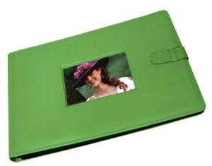 Raika luxe 8-at-a-time in special kelly-green fine leather #177 - 4x6 by Raika®