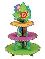 Wilton 24 Cupcakes Treat Stand - Jungle Pals -