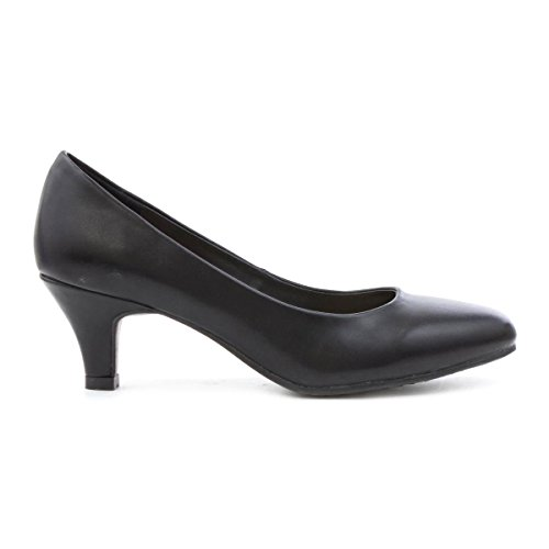 Lilley Womens Heeled Court Shoe in Black Black DHkiT