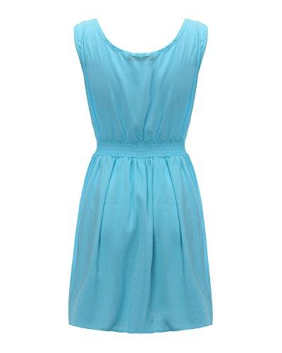 ZANZEA ZZ-431050 - Vestido para mujer Azul