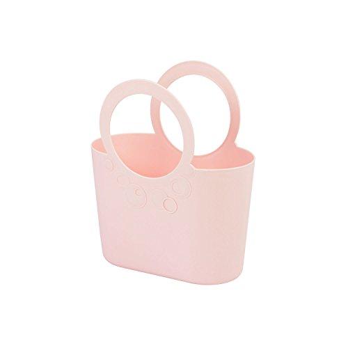 Borsa spiaggia cestino flessibile multiuso Lily 24 x 12 x 28 cm colore: rosa cipria