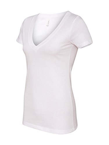 11b3c062480bd Next Level Apparel Women s CVC Deep V-Neck T-Shirt