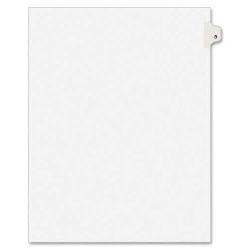 Nice Avery Individual Legal Exhibit Dividers, Allstate Style, B, Side Tab, 8.5 x 11 inches, Pack of 25 (82164) free shipping