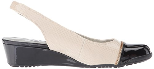 Anne Klein Ak Sport Womens Callum Fabric Wedge Pump Ivory / Zwart