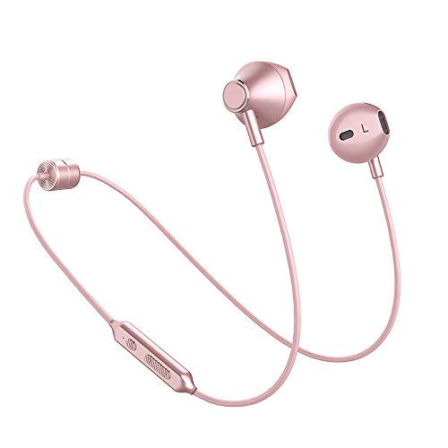 Bluetooth Headphones, 8H Play Time IPX4 Waterproof, in-Ear Wireless Earbuds, Magnetic Metal Housing, Stereo Bluetooth Earphones for Sports Running with Mic & Volume Remote Control, Hand-Free Calls