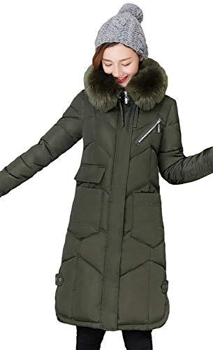 Cordon Manteau Avant De Longues Parka Hiver Manches avec Doudoune Fermeture avec Femme Longues Poches Serrage vRd8Pwq