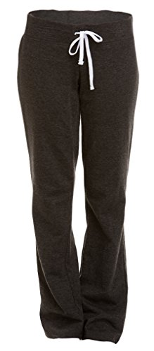 Soffe Women's French Terry Lounge Pant, Charcoal Heather, - Sweatpants Low Rise