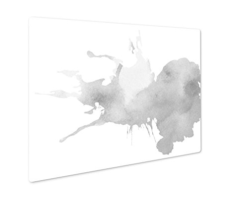 (Ashley Giclee Colorful Watercolor Splatter, Wall Art Photo Print On Metal Panel, Black & White, 8x10, Floating Frame, AG254145)