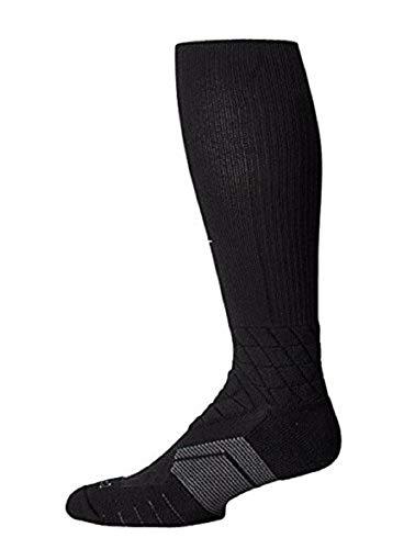 r the Calf Men's Football Training Socks (Extra-Large, Black/White/Metallic Silver) ()