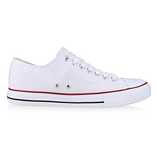 Damen Übergrößen Low VITA SCARPE Herren Unisex Rot Weiss Sneaker UEYHqw1