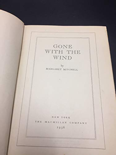 GONE WITH THE WIND - FIRST EDITION  - 1936