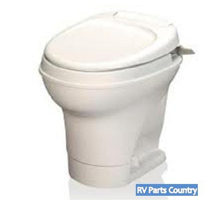 RV Aqua Magic Hand Flush Toilet Motorhome Bathroom Waste High Toilet Parchment