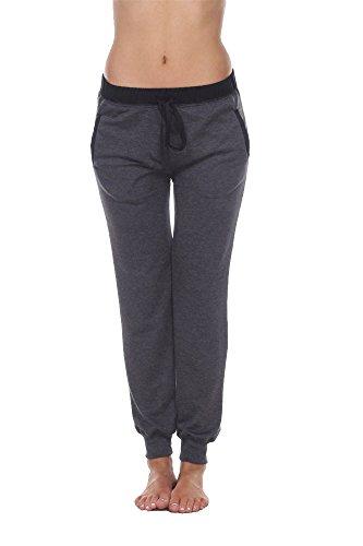 Pottery Barn Terry - Elegant4U Be A Boss Charcoal Lightweight Comfy Jogging Pants