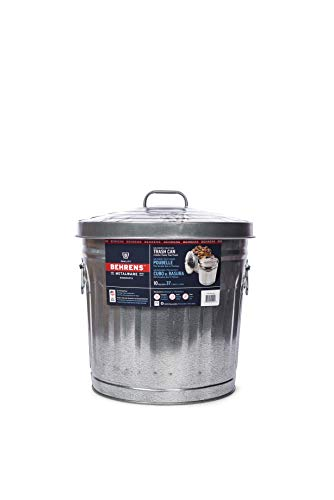 Behrens Manufacturing 6210 Galvanized Steel Trash Can, 10-Gallon