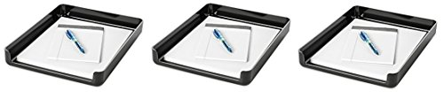 Rolodex Image Series Black Front Load Stacking Desk Tray (3 (Image Series Desk Trays)