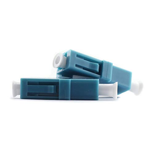 Maxmoral 2-Pack LC-LC Optical Fiber Coupler Simplex Singlemode Multimode Flange Coupling Connector Adapter for Digital Communication