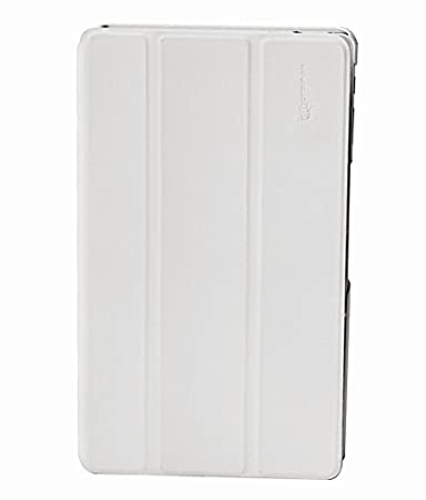 Micromax Flip Cover for Canvas Tab P666  White  Bags,Cases   Sleeves