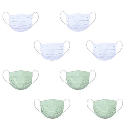 DFR Washable and reusable two layered 100% cotton fabric flat design face cover masks (pack of 8 – Unisex – Multi color) Price & Reviews