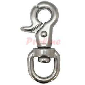 5 Pc 5/8'' Stainless Steel 316 Marine Swivel Eye Trigger Snap Hook Boating