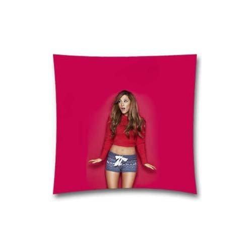 Ariana Grande février Musique Fille visage Couvre-lit Taie d'oreiller Oreiller Decor Housses de coussin carré 45,7x 45,7cm Coton et polyester Sugee