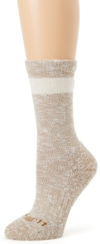 Khaki Hiker Crew (Carhartt Women's Merino Wool Blend Hiker Crew Socks,  Khaki, Shoe: 5.5-11.5)