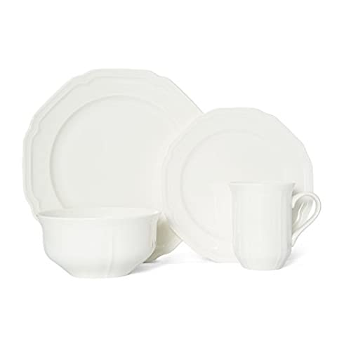 Mikasa Antique White 16-Piece Dinnerware Set, Service for 4 - Sox Melamine Bowl