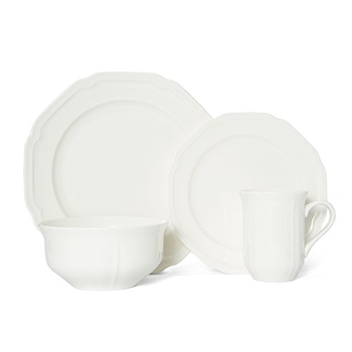 Mikasa Antique White 16-Piece Dinnerware Set, Service for 4 (Set 16 Piece White)