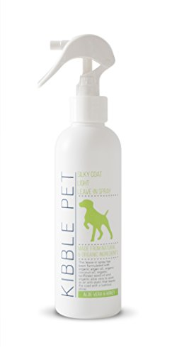 Kibble Pet Silky Coat Light Leave in Spray, Aloe Vera and Honey (7.2 Ounces)